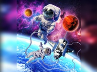 Cats Spacewalking