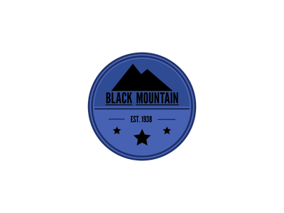 Black Mountain logo branding comp