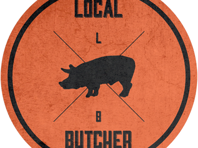 Butcher logo design branding graphic