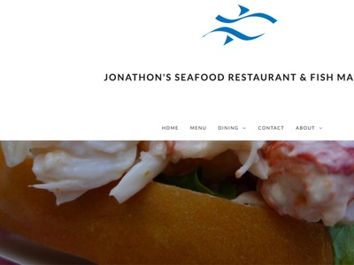 Jonathons Seafood responsive web design wordpress development wordpress theme