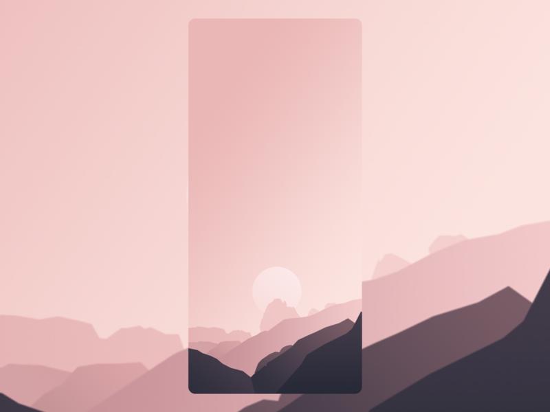 sunset gradual change sunsets vector illustration