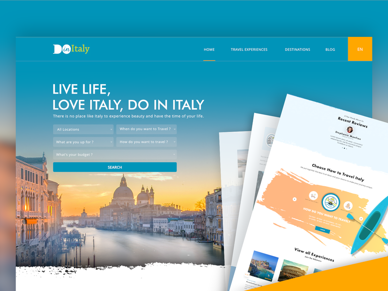 Do-in-Italy Website Home Page website design and development website design web marketing webdesign web ux user experience ui traveling tourism responsive website design mobile website design mobile ui interaction graphic design brand graphicdesign environment travel and tourism design studio design