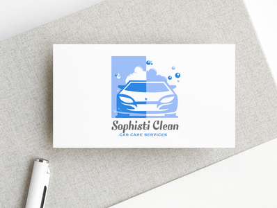 Logo - Sophistic Clean- Car Care - Services car logo car wash car care sophistic clean logo vector typography branding abstract icon art illustration design creative