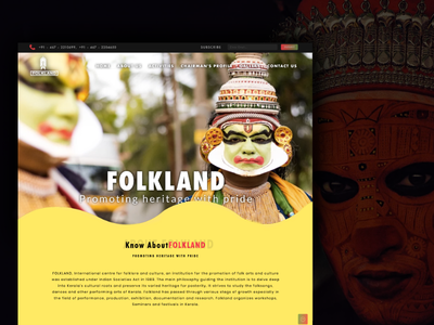 Folkland - Revamped Home Page