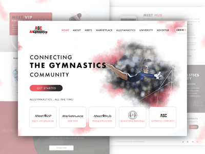 AllGymnastics Revamped Home Page
