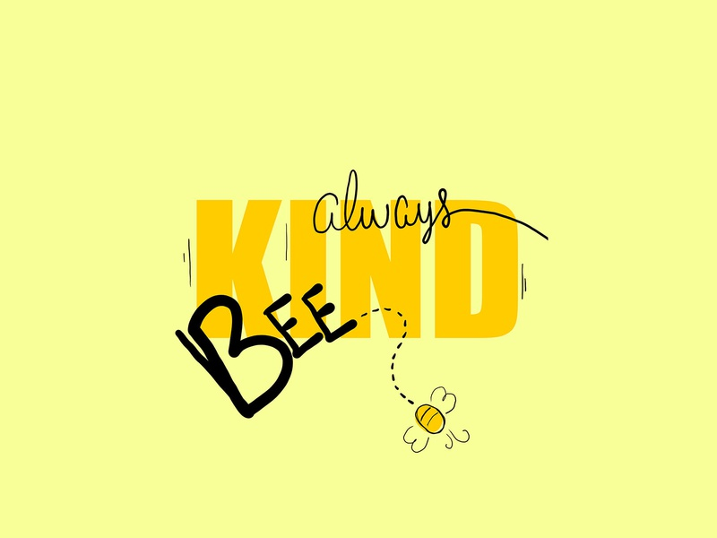 Always be kind vector typogaphy quote illustration draw letters draw design