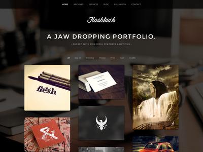 Flashback - A Jaw Dropping Portfolio WP Theme