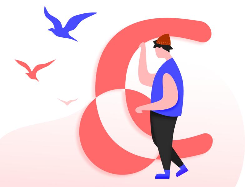 illustrations 「C」 ui design app illustration
