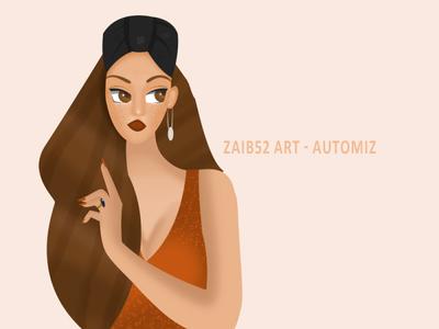 New DTIYS work draw 52art freelancer girl illustrations artistsupportartist love adobephotoshop adobe illustration dtiys