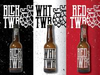 Triple Tower brewing co. branding