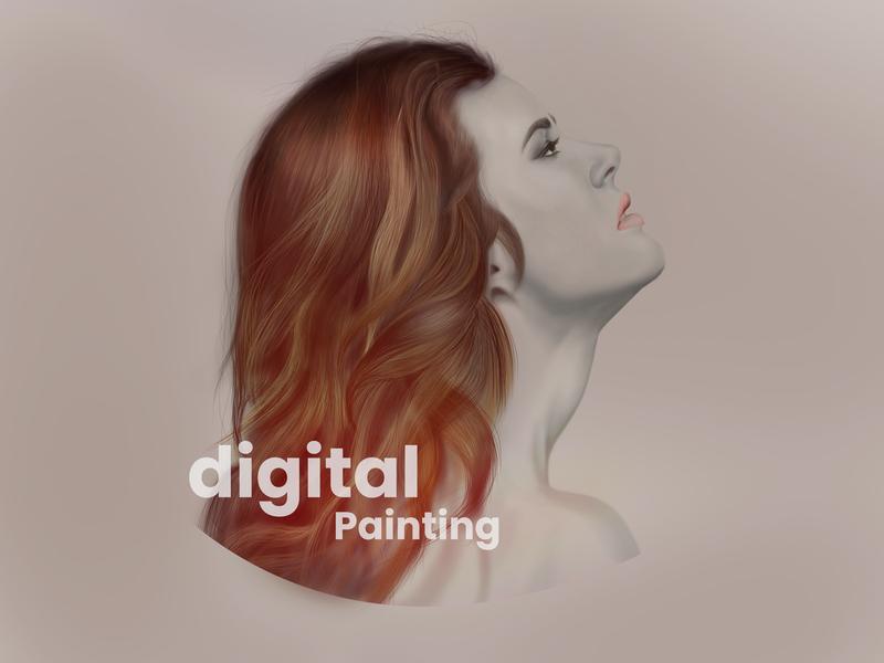 Digital painting drawing design art digital painting