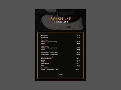 washlap pricelist concept