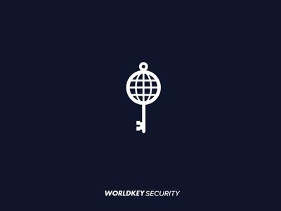 worldkey security logo concept