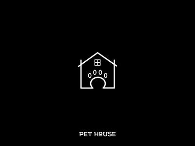 pet house logo concept