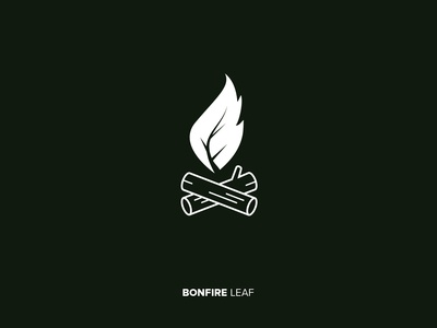 bonfire leaf logo concept