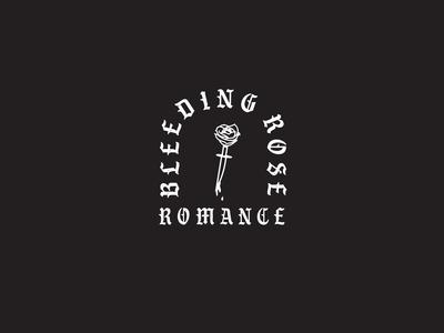 bleeding rose romance logo concept