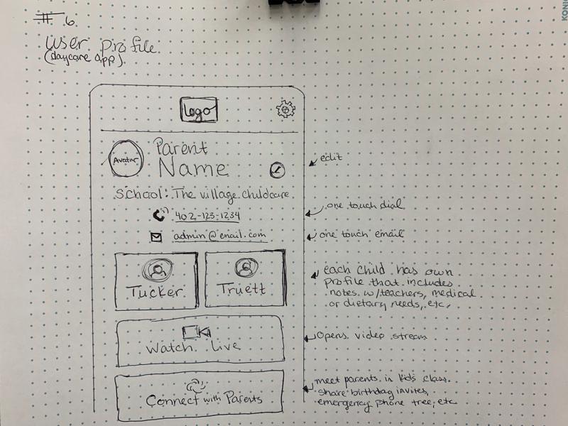 Daily UI #6 sketch challenge app dailyui