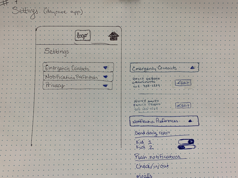 Daily UI #7 sketch challenge