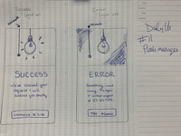 Daily UI #11 sketch challenge