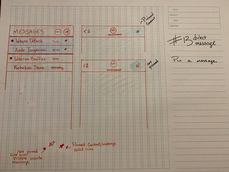 Daily UI #13 sketch challenge dailyui