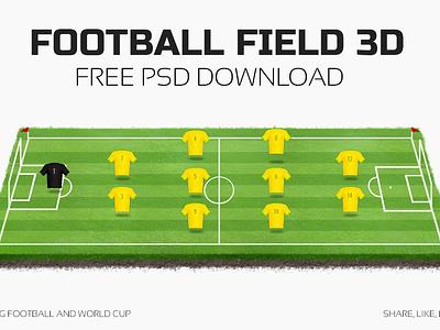 Football Field 3D football soccer field 3d freebie free