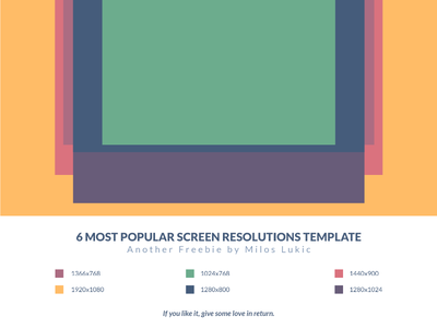 6 Most Popular Screen Resolutions Grid Template Freebie  screen resolutions screen template freebie grid resolutions