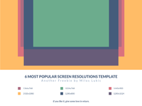 6 Most Popular Screen Resolutions Grid Template Freebie