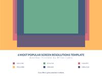 6 most popular screen resolutions freebie grid template