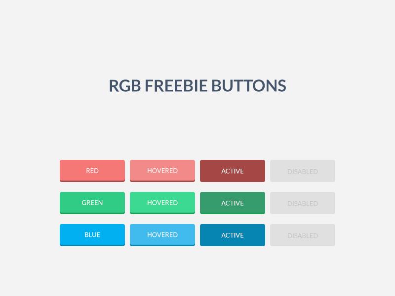 RGB Freebie Buttons buttons ui rgb buttons freebie free