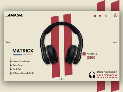 BOSE Headphones Shopping page