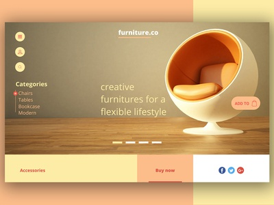 Furniture.co Landing page