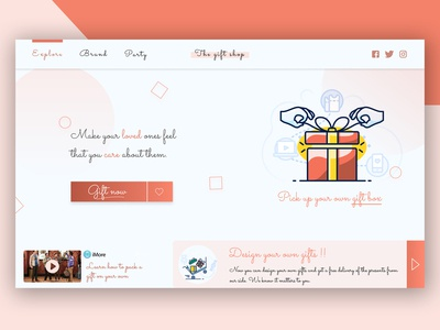 The Gift Shop landing page concept