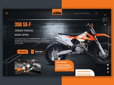 Landing Page for KTM