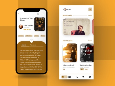 App Concept For Ebook Reader called Bookify