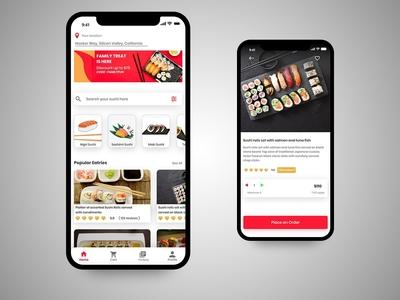 Sushi Restaurant App concept