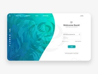 Flower lab. Login Page
