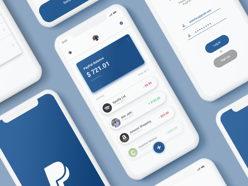 #Exploration - Paypal App Redesign debut website flat web icon mobile app payments payment payment app paypal clean design app hello dribbble ux ui