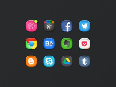Rebound Icons (PSD)