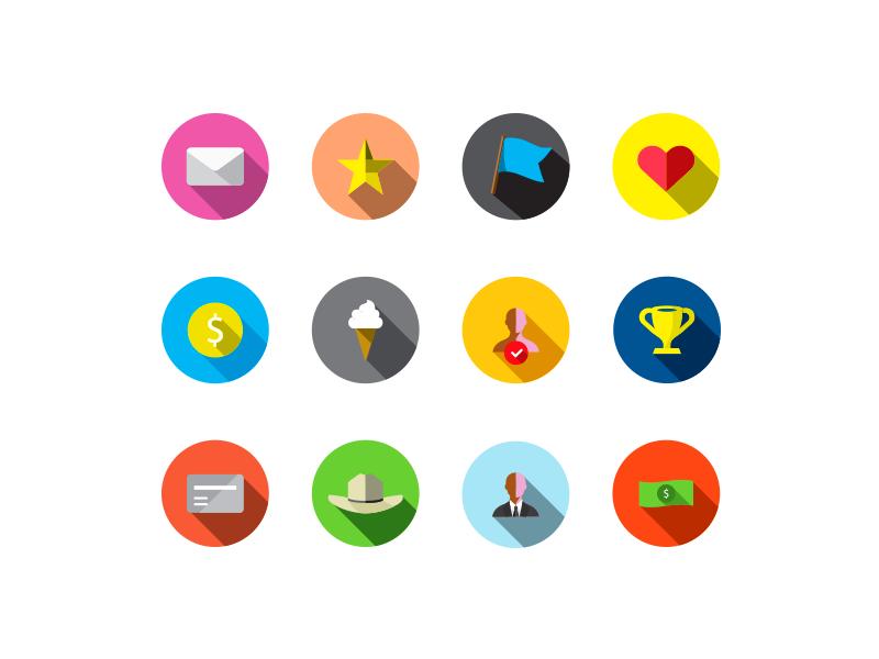 Guava Reward Icons / Free Ai Illustrator File icons reward icons badges ai illustrator freebie psd flat