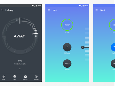 Nest Material Design [Sketch File] internet of things free sketch file sketch freebie material design iot thermostat nest