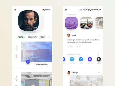 Social App mobile app mobile news feed user profile reddit clean light sketch austin texas austin ux ios ui  ux ui social app social network social