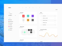 Project Dashboard 9/10 ui dashboard ux web app clean light sketch minimal