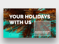 Landing page concept tailored trip