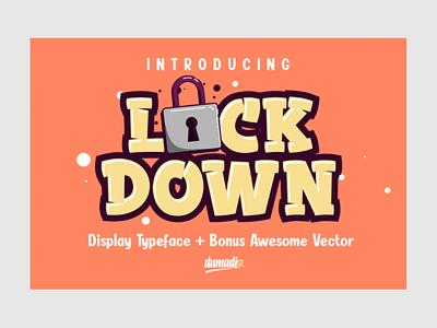 LOCKDOWN FONT goodfont newfont covid19 lockdown font