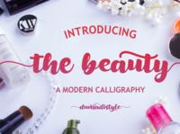 The Beauty bold app animation web branding newfont typography logo handmade design font