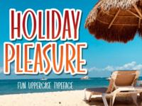 Holiday Pleasure font
