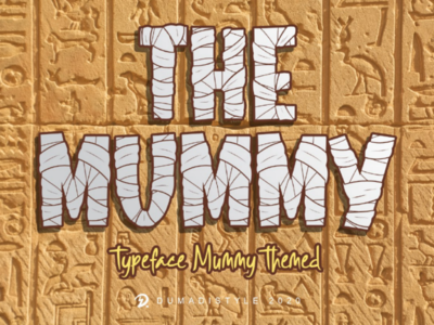 THE MUMMY halloween best font font
