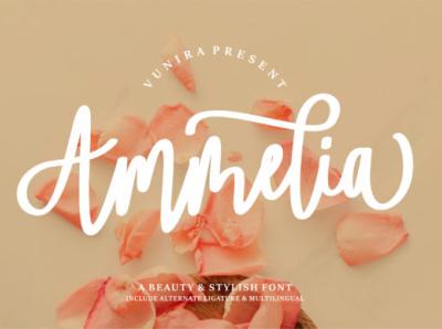 Ammelia Fonts bold web app animation branding newfont logo typography design handmade font