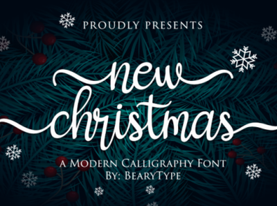 New Christmas Fonts 6045164 1 1 580x387 app bold animation logo branding newfont typography design handmade font