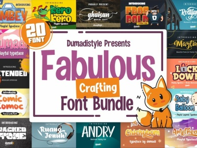 Fabulous Font Bundle $1 font for design fontdesign illustration brush covid19 web app bold animation logo branding typography newfont design handmade blackfriday ultimate $1 font